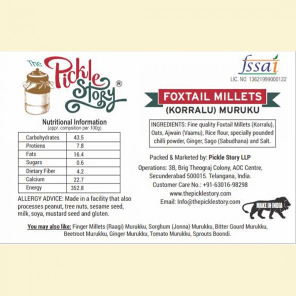 Pickle Story - Foxtail - Millets